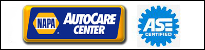 NAPA Auto Center and ASE Certified